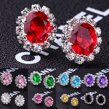 Sale Fashion Ear Stud Crystal Earrings For Women Elegant Set Drill Delicate Ladies Cocktail Evening Gift