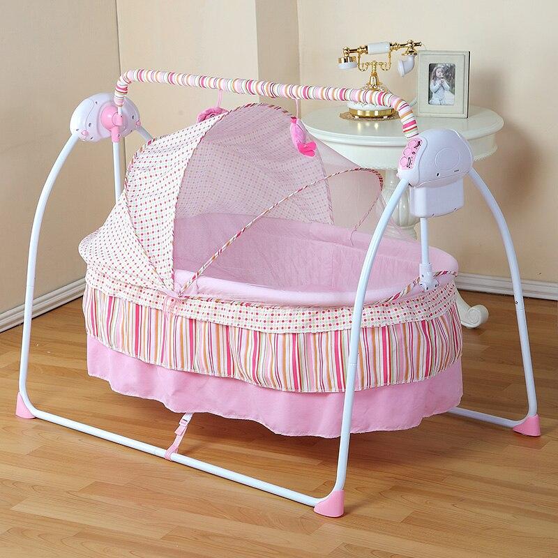 Berceau électrique portatif de bébé de mode/berceau de bébé, bascule électrique de bébé, lit d'oscillation de bébé, grand Space100 * 55 cm approprié pour 0-36 mois