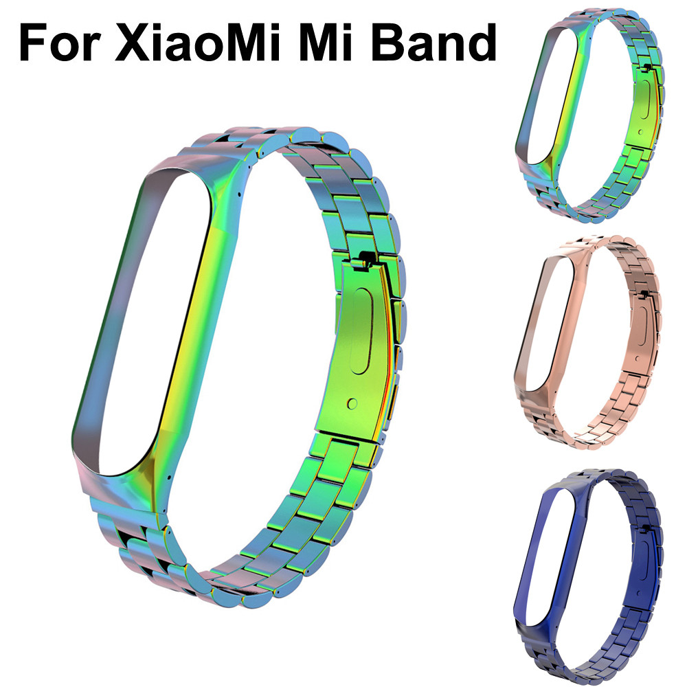 Watch Band Strap For XiaoMi Mi Band 3 Luxury Stainless Steel Bracelet Watch Band Strap For XiaoMi Mi Band 3 S.25 xiaomi mi band 3 strap черный
