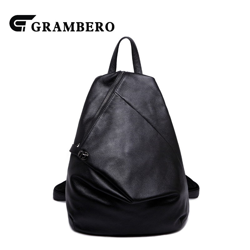 Korean Style Fashion Women Backpack Genuine Leather PU Leather Large Capacity Shopping Casual Bag Books Bags for Birthday Gift exquisite fashion women bride jewelry accessories chemical formula pattern pu leather couple watch for women birthday gift