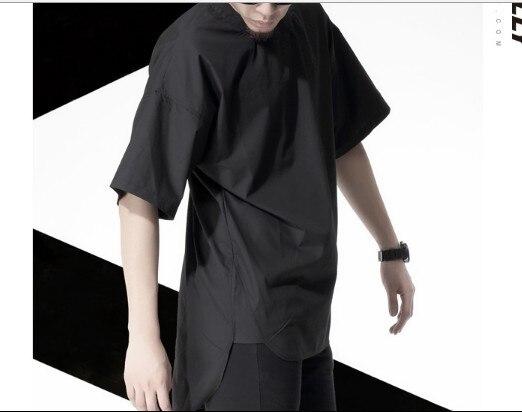 Long back Black white Oversized Tee 2015 Men s Extended Tee Shirts Men  Yeezy Kanye West t-shirt Hip Hop tshirt Streetwear Tyga 3d2c3ce464f