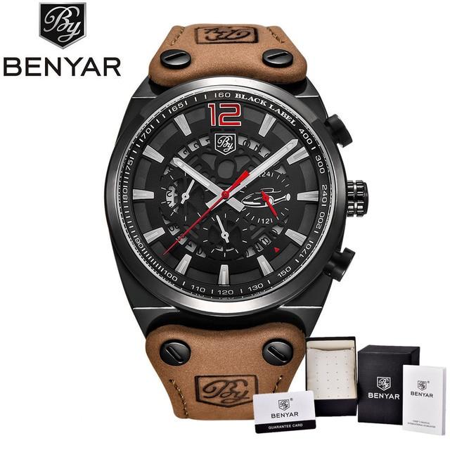 6b3025a7cdc BENYAR projeto Do Esporte Do Cronógrafo de Pulso Dos Homens Relógios  Militar Marca de Moda à