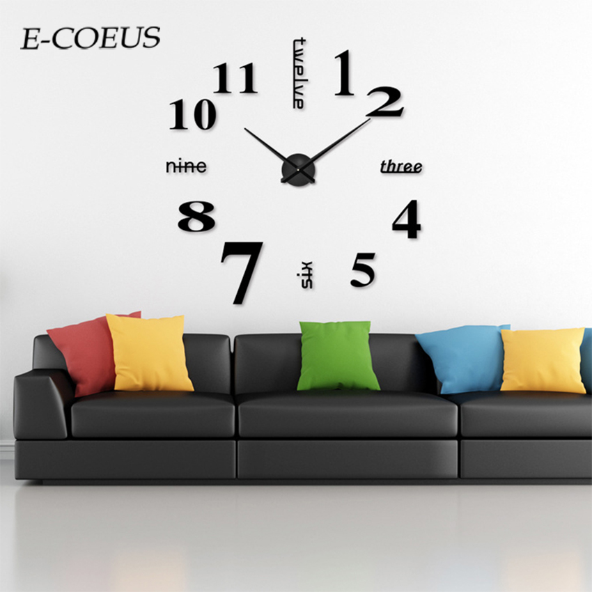 European Style Free Shipping Chic Wall Clocks Beautiful  Antique Single Face Large Digitial New Size Color