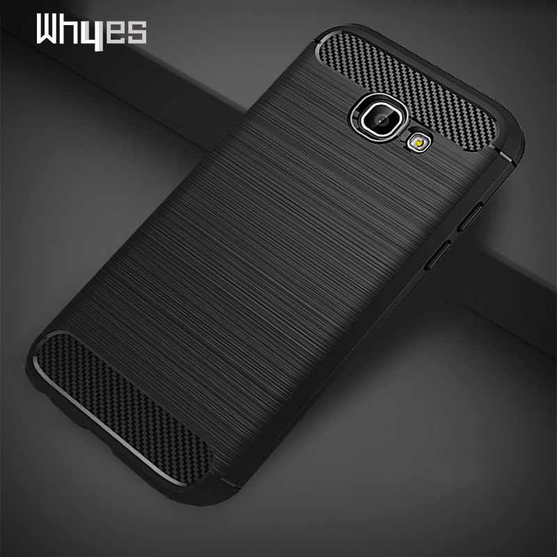 Whyes For Samsung Galaxy A5 2017 Case A520 Carbon Fiber Soft TPU Heavy ShockProof Silicone Case For Samsung A5 2017 A520 Cover