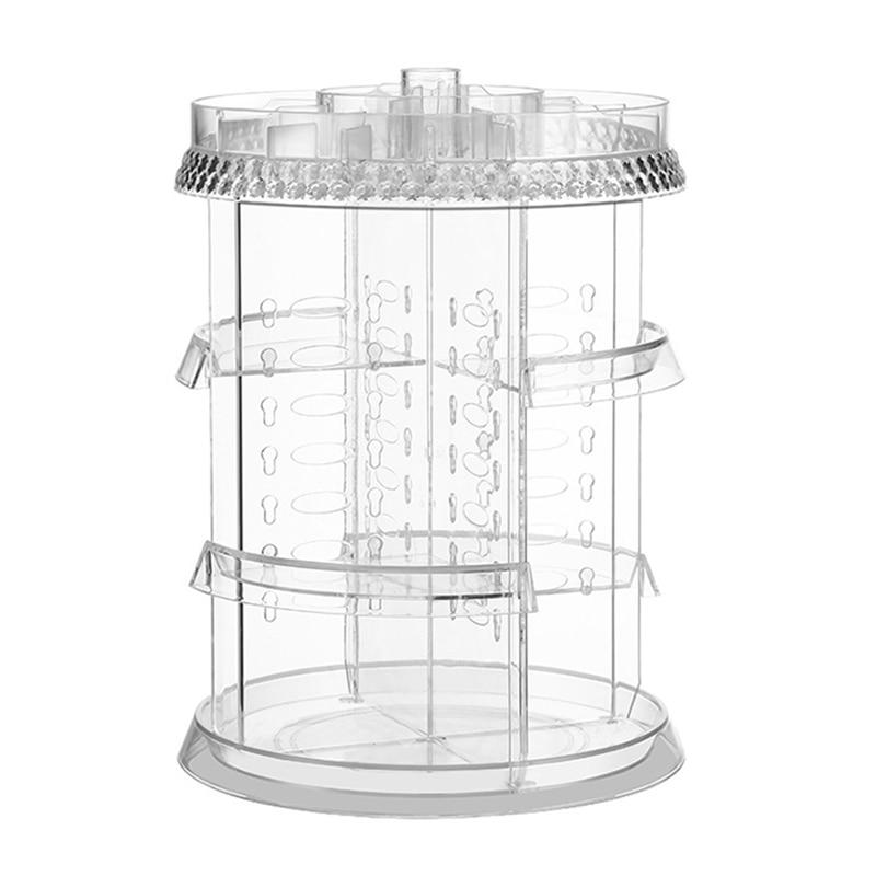4 Layer 360° Rotating Holder Large Cosmetic Storage Makeup Organizer Drawer Box