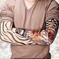 2016 6 Pçs/lote mangas Homens moda Deslizamento Falso Temporária Sobre Tatuagem falsa Mangas Braço Kit Mangas 8NSM