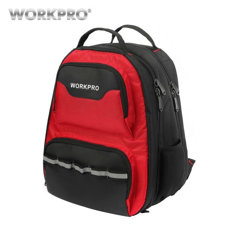 WORKPRO 2019 New Design Tool Bag Multifunction Backpack Tool Organizer Bag Waterproof Tool Bags knapsack