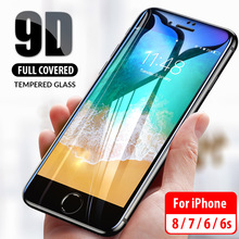 9D Curved Protective Glass For iPhone 6 6S 7 8 Plus Screen Protector Protection glass on Tempered full cover