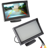 5 Inch Car Monitor TFT LCD Screen HD Digital Color Car Rearview VCD DVD GPS Camera