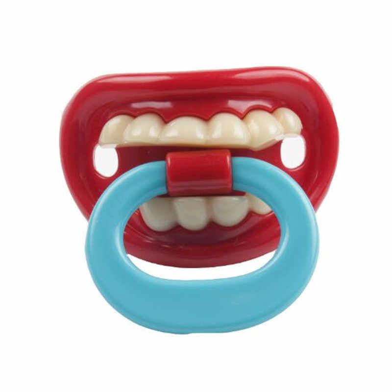 Silikon Lucu Puting Dummy Bayi Penenang Lelucon Lelucon Balita Pacy Ortodonti Puting Teether Dot Bayi Natal