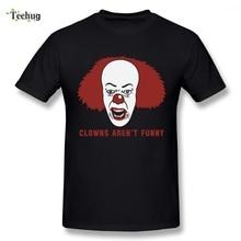 Hot Sale Clown Tee For Boy Novelty Top Design Man Round Collar Short Sleeve