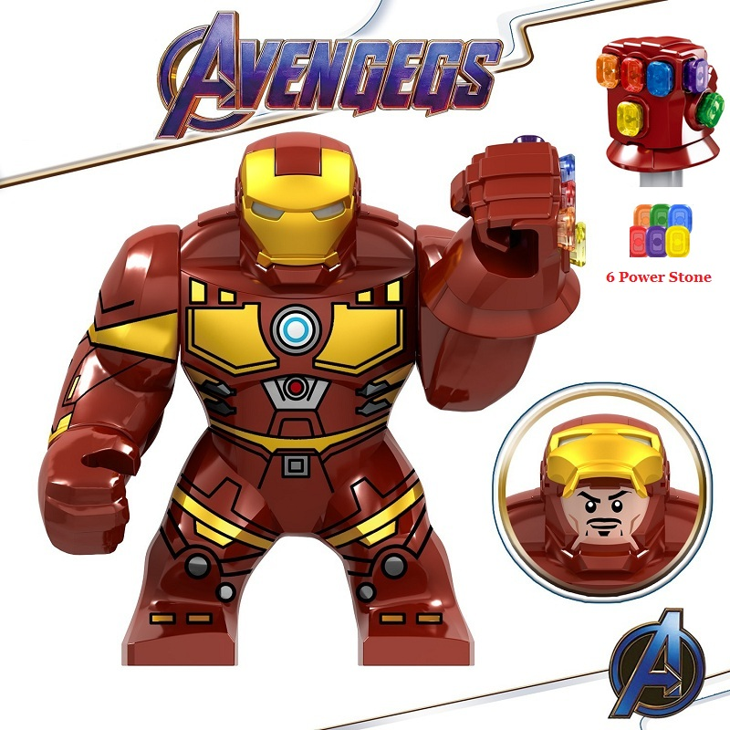 Legoed Avengers Endgame Marvel Iron Man Thanos Infinity Gauntlet Action Figures Playmobil Building Blocks Model Children Toys