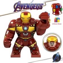 Legoed Avengers Endgame Marvel Iron Man Thanos Infinity Gauntlet Action Figures Playmobil Building Blocks Model Children Toys