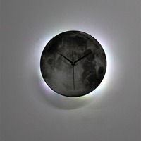 Moon LED Wall Lamp Clock Sconce Night Lights Hanging Lamp Bed Bedside Designs Modern Wall Art Home Decor Wireless Remote Control