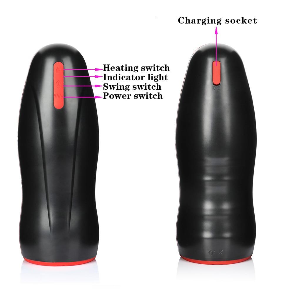 Automatic heating Masturbator charging socket