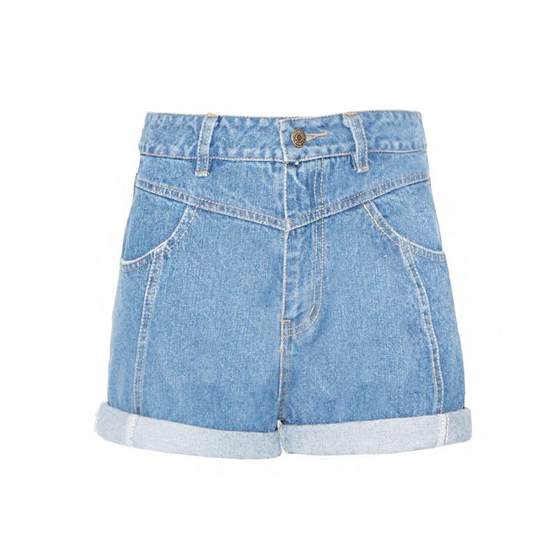 Short Feminino 2017 Spring Summer High Waist Denim Shorts Women Roll Up Casual Short Jeans Shorts Femme
