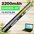 2200 mah bateria do portátil para lenovo thinkpad l12l4a02 l12l4e01 g410s g400s g405s g500s g505s g510s s410p s510p toque série z710