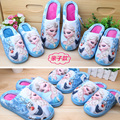 Дети Тапочки Зимние Детский Дом Обуви Эльза Анна Hello Kitty Тапочки Минни Маус Мать и Дочь Обувь Каваи Тапочки
