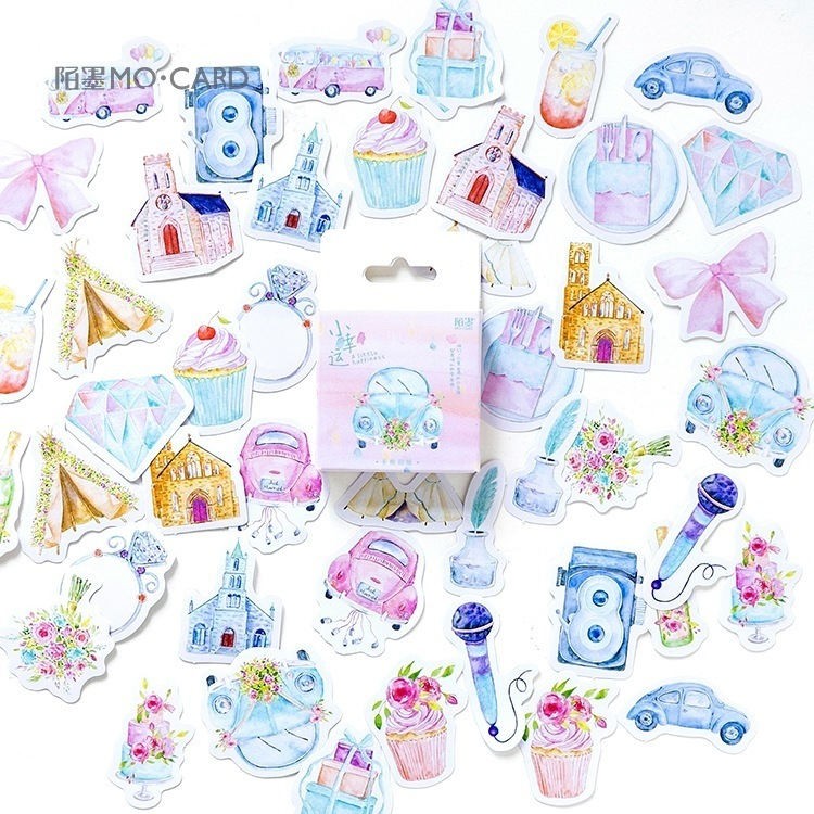 46PCS/box New Cute Little Luck Diary Paper Lable Stickers Crafts And Scrapbooking Decorative Lifelog DIY Cute Stationery