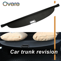 Overe 1Set Car Rear Trunk Cargo Cover For Hyundai IX35 2010 2017 Car styling Black Security Shield Shade Auto accessories
