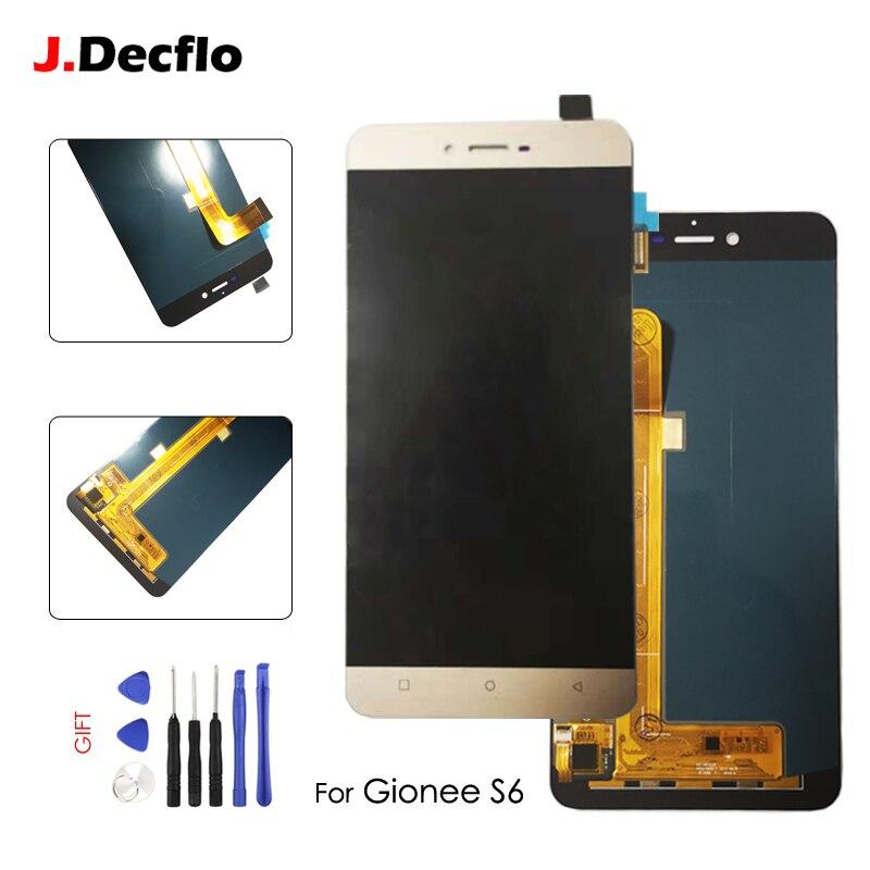 AMOLED Pièces De Rechange Pour ELIFE Gionee S6 9010 LCD Affichage à L'écran Tactile Digitizer Assemblée Sans Cadre Blanc ou or