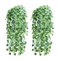 5 stück wie echte künstliche Apfel leaf garland faux reben Ivy Indoor outdoor home decor hochzeit blumen Pflanzen grüne blätter reben