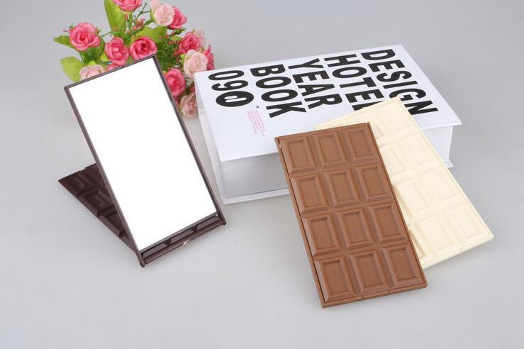 Mini Folding Pocket Schokolade Cookie Förmigen Weinlese-art-schmetterlings-verfassungs-kosmetik-taschenspiegel Heißer Verkauf Schminkspiegel Schönheit & Gesundheit