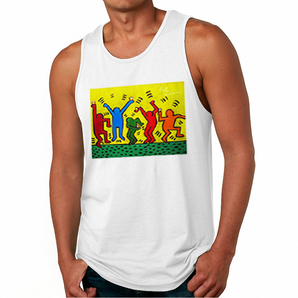 Men 2018 Fashion Designer Workout Tank Top Keith Haring Dance Cool Graphic Vests Mens Casual Harajuku Shirt Fitness Muscle Tops