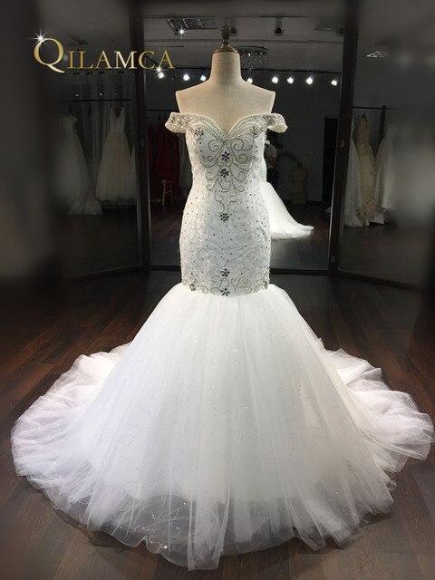 Neues Design Luxus Perlen Sweetheart Kristall Meerjungfrau