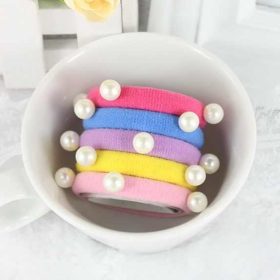 Обруч жемчужный галстуки на резинке аксессуары для волос для женщин резинки хороший головной убор богемная резинка для девочек нейлон украшение Haar