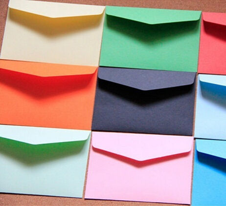 200pcs/lot 115*80mm New Cute Vintage Candy color series DIY Multifunction Mini envelope set wholesale