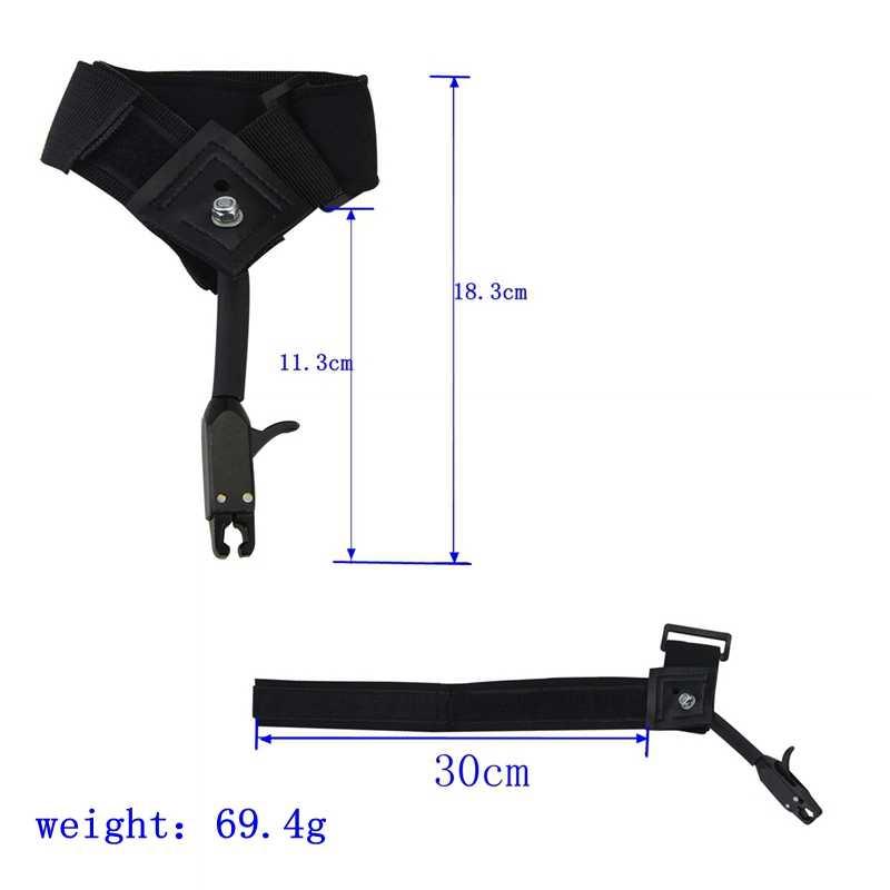 1 ピース弓リリースフィット左右の手のリリースキャリパー援助ストラップアクセサリー