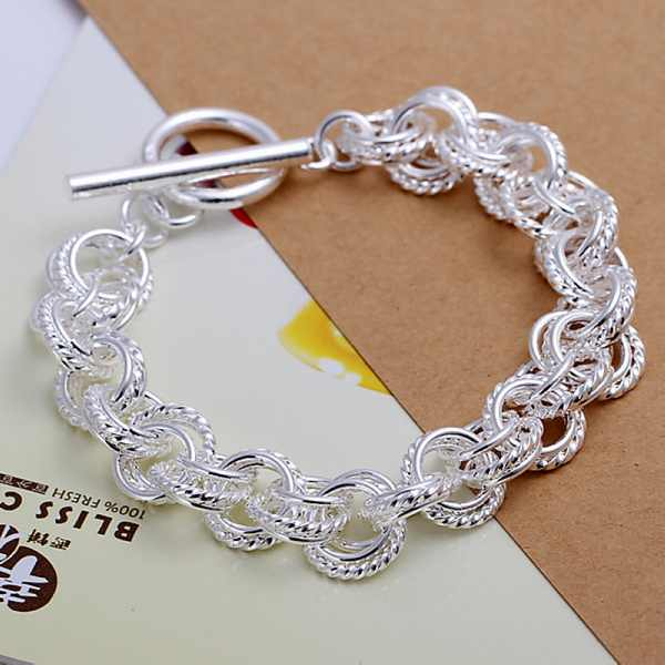 Silver color female models wedding women lady gorgeous charm circle Bracelets fashion jewelry birthday gift H023