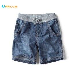 Новые детские летние брендовые джинсы джинсовые шорты 2019 г., модные шорты для мальчиков