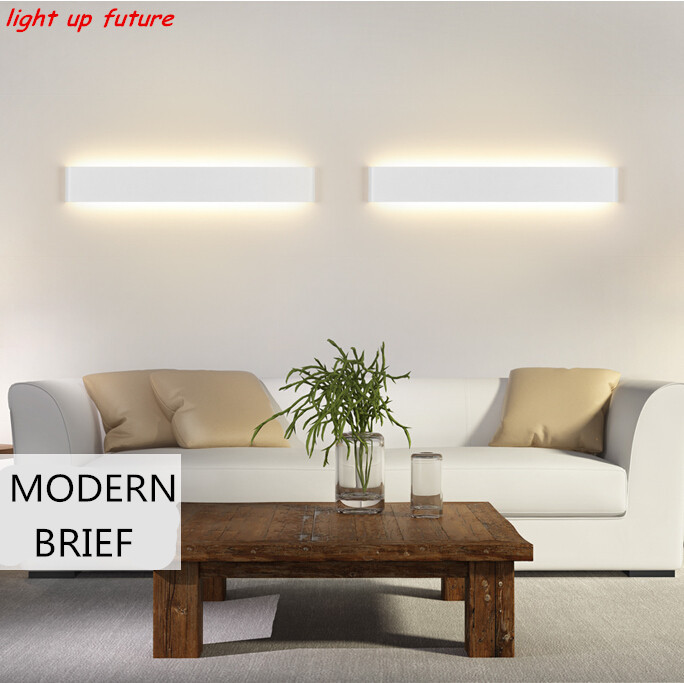 ON SALE modern aluminum&acryl 6W/24cm led wall lamp IP65 AC85-265V indoor lighting for living room stair bathroom mirror light modern waterproof aluminum acryl led mirror front light for bathroom bedroom living room 40cm 12w ac 80 265v mirror light 2129