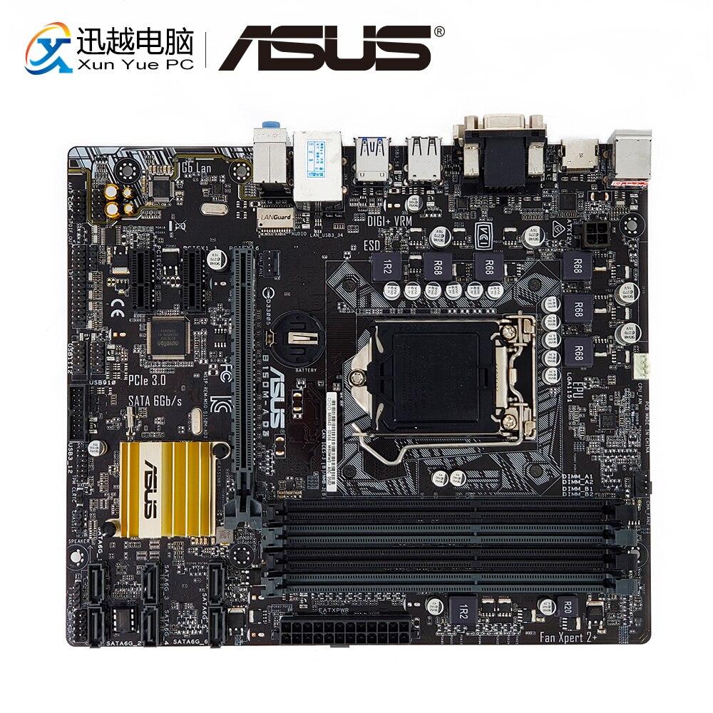 Asus B150M-A D3 Desktop Motherboard B150 Socket LGA 1151 i7 i5 i3 DDR3 64G SATA3 USB3.0 Micro-ATX
