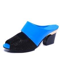 Karinluna 2018 discount Woman Sandals flip flops wholesale high heels summer sandals women's shoes woman party date slippers