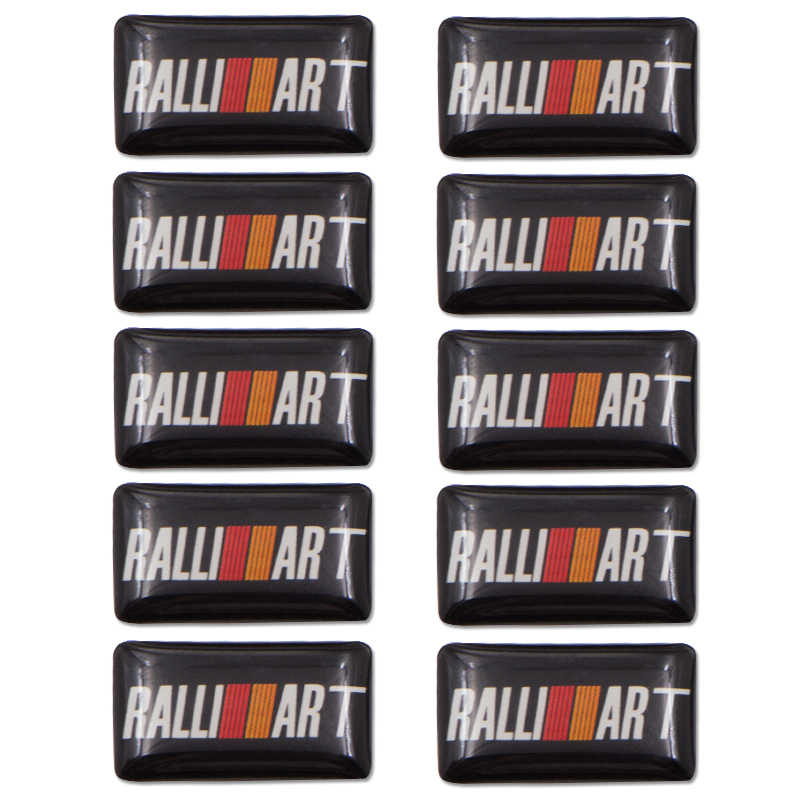 Nuevo 1 piezas emblema de estilo de coche insignia etiqueta de la rueda de la etiqueta 3D para lancer asx mitsubishi galant etiqueta del emblema del coche accesorios de Auto