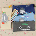 Cute Kawaii Fabric Pencil Case Lovely Cartoon Totoro Pen Bags For Kids Gift School Supplies Free Shipping 1202