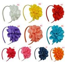 Grandes moños de flores para el cabello, diadema de plástico con dientes, Cintas de Pelo, diadema para niñas, accesorios para el cabello