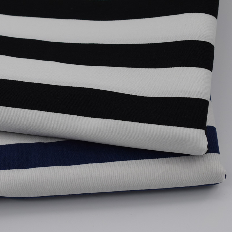 Duplo Cor de Tarja Impressa Algodão Tecido Para O Vestido de Vestuário de Moda Materiais Baratos Tecidos Costura Vestidos au Tissu Metro Tela