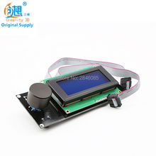 CREALITY 3D Printer Accessories 2Pcs 2004 LCD Display+10 Pin LCD Cable Reprap Smart Controller Reprap Ramps 1.4 2004LCD Control