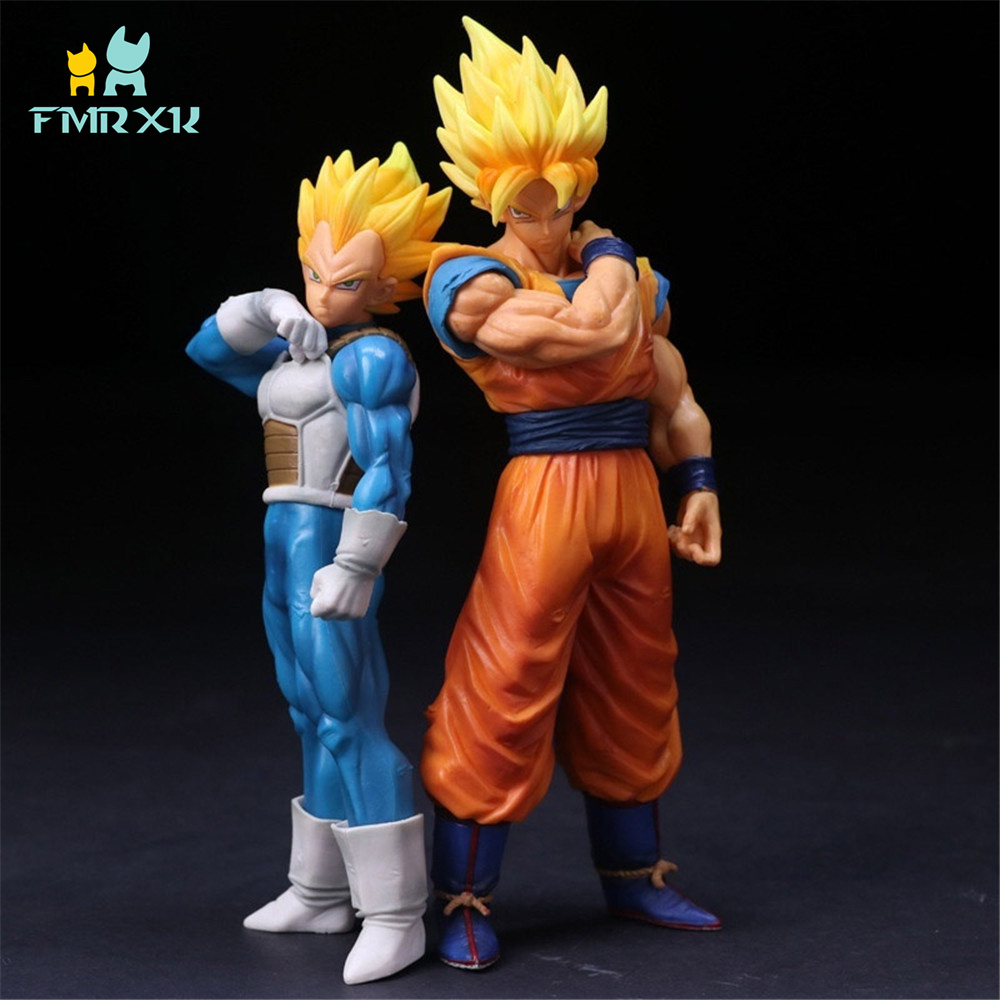 FMRXK 22cm Dragon Ball Z Super Saiyan Goku Vegeta Figure PVC Action Figure Anime Collection Model Toys Doll Gift Decoration стоимость