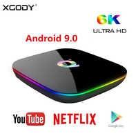 XGODY Android 9.0 Smart TV Box Allwinner H6 Quad Core 4GB 32GB/64GB 6K USB 3.0 HDMI 2.0 Media Player Set Top Box PK T95Q s905x2