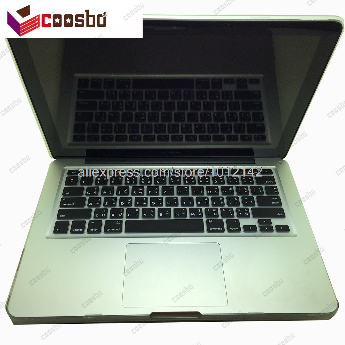 New 50pcs Wholesale lower price Thailand Thai Colors Keyboard Skin Protector Cover for Mac Macbook Air Pro Retina / G6 13 15 17