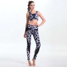 Sexy Black White Leopard Women s Yuga Sets Leggings Beautiful Patchwork Clothes Suits Exercise Bra Exercise