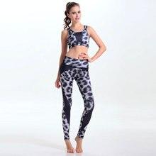 Sexy Black White Leopard font b Women s b font Yuga Sets font b Leggings b