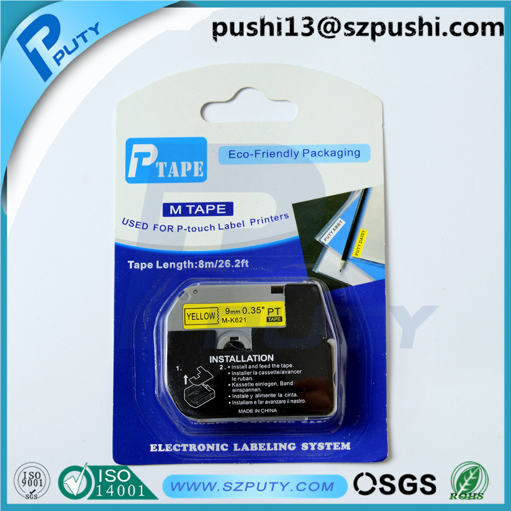 Compatible MK tape cartridge m k621 m-k621 mk621 for p touch PT85 PT100 PT110