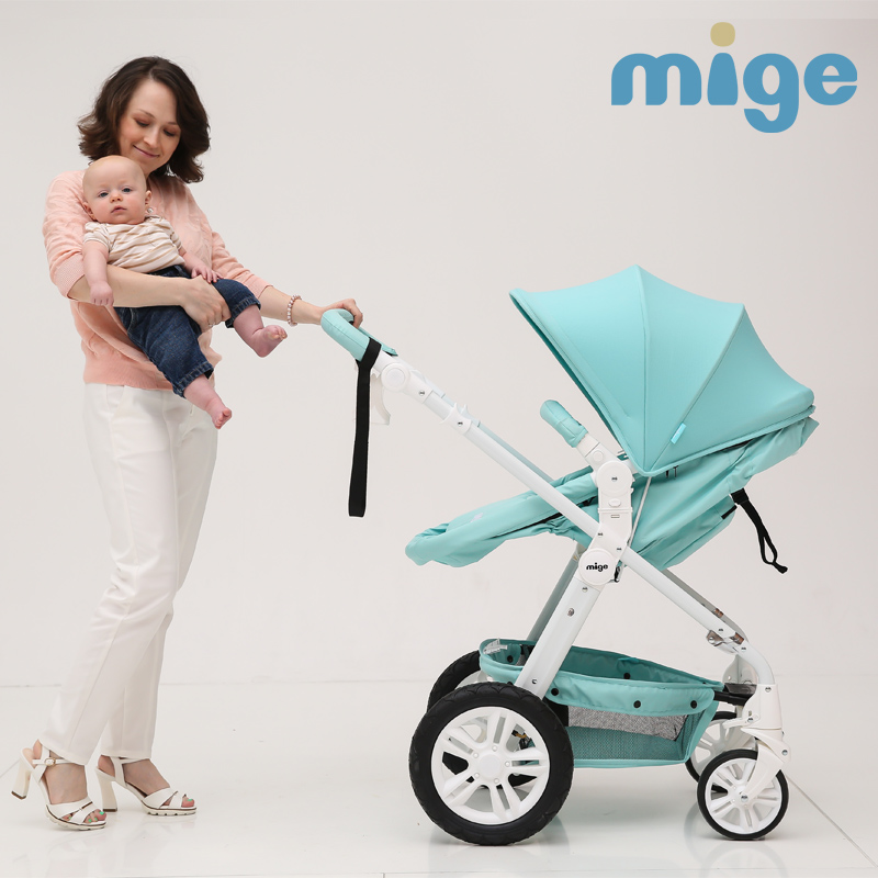 Free shipping Mige brand baby stroller europe baby cart inflatable ...