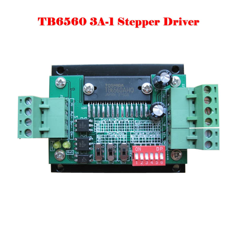 TB6560 3A-1 stepper motor driver stepper motor driver board single-axis current controller 10 files l298n stepper motor driver controller board module blue